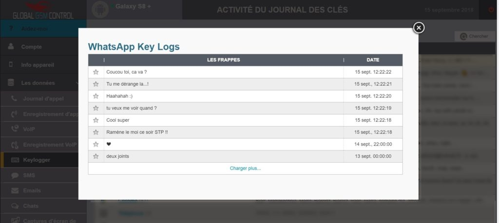 keylogger pour Android